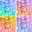 Abstract crystal colorful backgrounds — Stock Vector #19339127