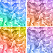 Abstract crystal colorful backgrounds - Stock Vector