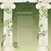 Ionic columns — Stock Vector