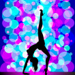 Sexy pole dancing — Stock Vector