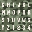 Stock Vector: Military grunge font