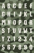 Military grunge font — Stock Vector