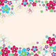 Floral hand drawn background — Stockvektor