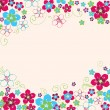 Floral hand drawn background — Stockvectorbeeld