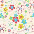 Floral hand drawn background — Stock Vector