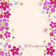 Floral hand drawn background — Stock Vector #25070629
