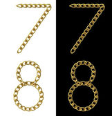 Golden numbers 7 and 8 — Stock Photo