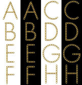 Golden Letters A and B — Foto de Stock