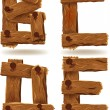 Stock Vector: Wooden letters