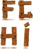 Litery drewniane — Wektor stockowy