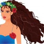 Girl in wreath — Stock Vector #29440225