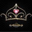 Royal crown — Imagen vectorial