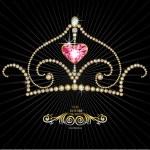 kunglig krona — Stockvektor
