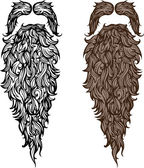 Beard and mustache — Stock Vector