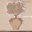 Bush of roses — Stock Vector