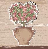 Bush of roses — Stock Vector