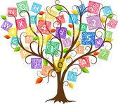 Education Tree — Stock Vector