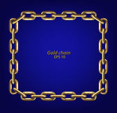 Frame made with gold chain — Stock Vector