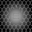 Chain fence with a hole — Image vectorielle
