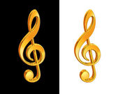 Gold treble clef — Stock Photo