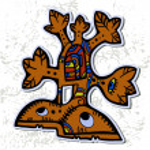 Decorative Azteck tree — Stock Vector
