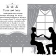 Romantic proposal — Stok Vektör