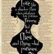 Vintage book page with quote by William Shakespeare from The Merry Wives of Windsor — Imagen vectorial