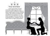 Romantyczne wniosek — Wektor stockowy