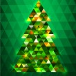 Stock Vector: Christmas tree background