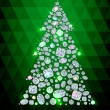 Christmas Tree made of gems — Stock Vector