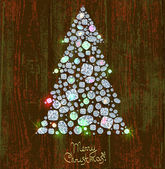 Christmas Tree Diamond — Vector de stock