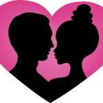 Couples in love — Stock Vector