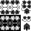 Set of design elements, patterns — Stock Vector