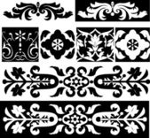 Set of design elements, patterns — Stock Vector