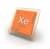 Xenon  chemical element sign — Stock Photo