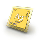 Argentum element sign — Stock Photo