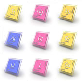 Chemical element sign collection — Stock Photo