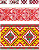 Ornaments in the Ukrainian style — Stok Vektör