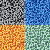 Set of different leopard backgrounds — Stock Vector