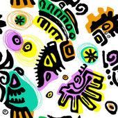 Unusual tribal seamless background — Stockvector