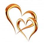 Golden hearts — Stock Photo #5335963