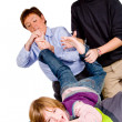 Mother and son are tickling the boy - Foto de Stock