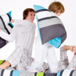 Pillow fight - Stockfoto