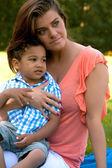 Eu e meu filho — Fotografia Stock