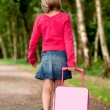 Walking with suitcase back — Stock Photo #12590790