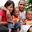 Colorfull africfamily — Stock Photo #12590983