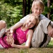 Happy Brother and sister — Stock Photo #12592589