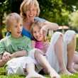 Mother and her kids — Stock Photo #12592605