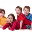 4 happy children — Stock Photo