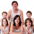 Big family in white — Stock Photo #12592943